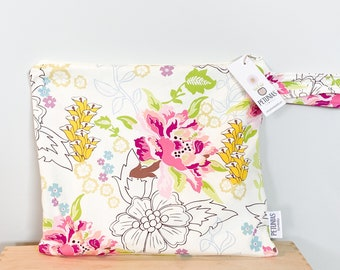 The ICKY Bag - wetbag - PETUNIAS by Kelly - ivory delicate floral
