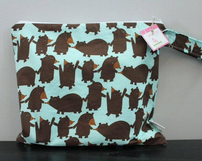 Wet Bag wetbag Diaper Bag ICKY Bag wet proof bear gym bag swim cloth diaper accessories zipper gift newborn baby kids beach bag
