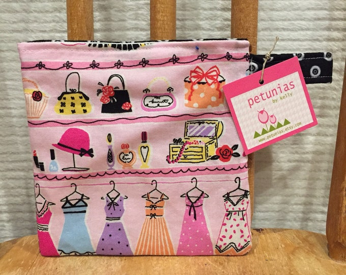Reusable Little Snack Bag - pouch adults kid girls eco friendly by PETUNIAS