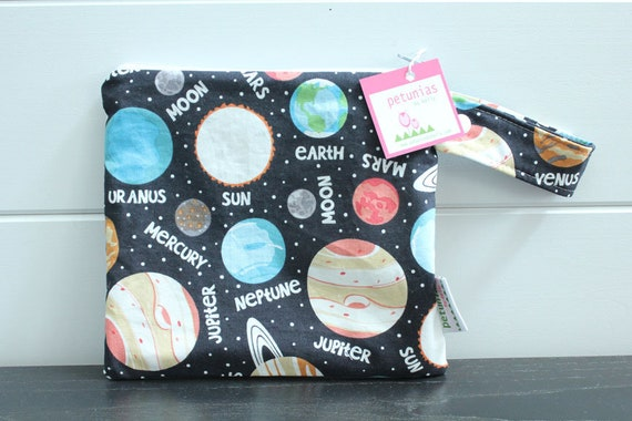 1885bd5c72 wetbag wet bag The ICKY Bag petite black planets modern baby
