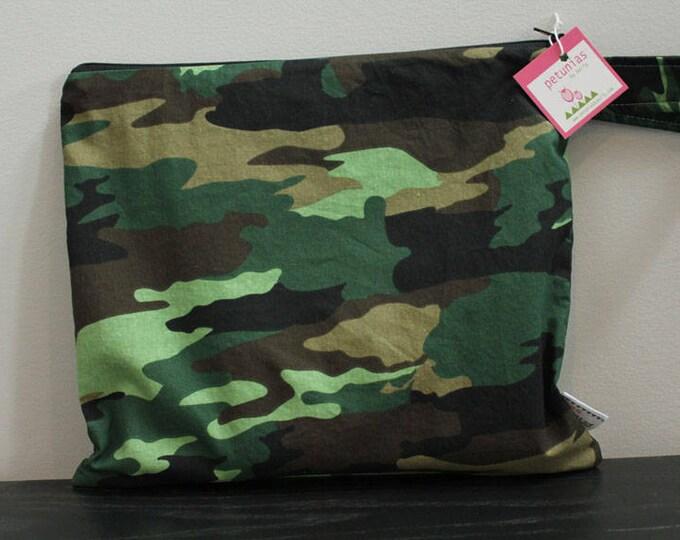 Wet Bag wetbag Diaper Bag ICKY Bag wet proof green camo gym bag swim cloth diaper zipper gift newborn baby child kids summer beach