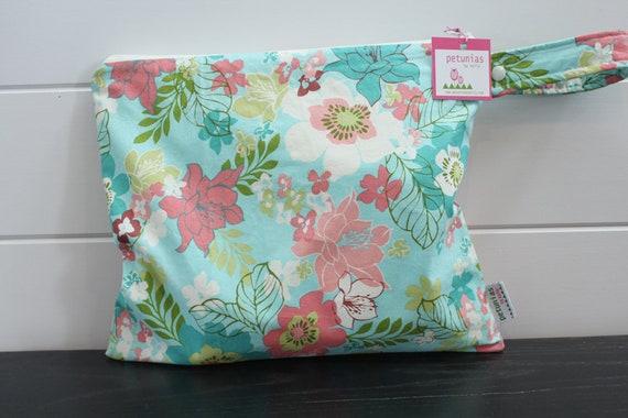 1469c6daa3 Wet Bag wetbag Diaper Bag ICKY Bag wet proof aqua floral gym