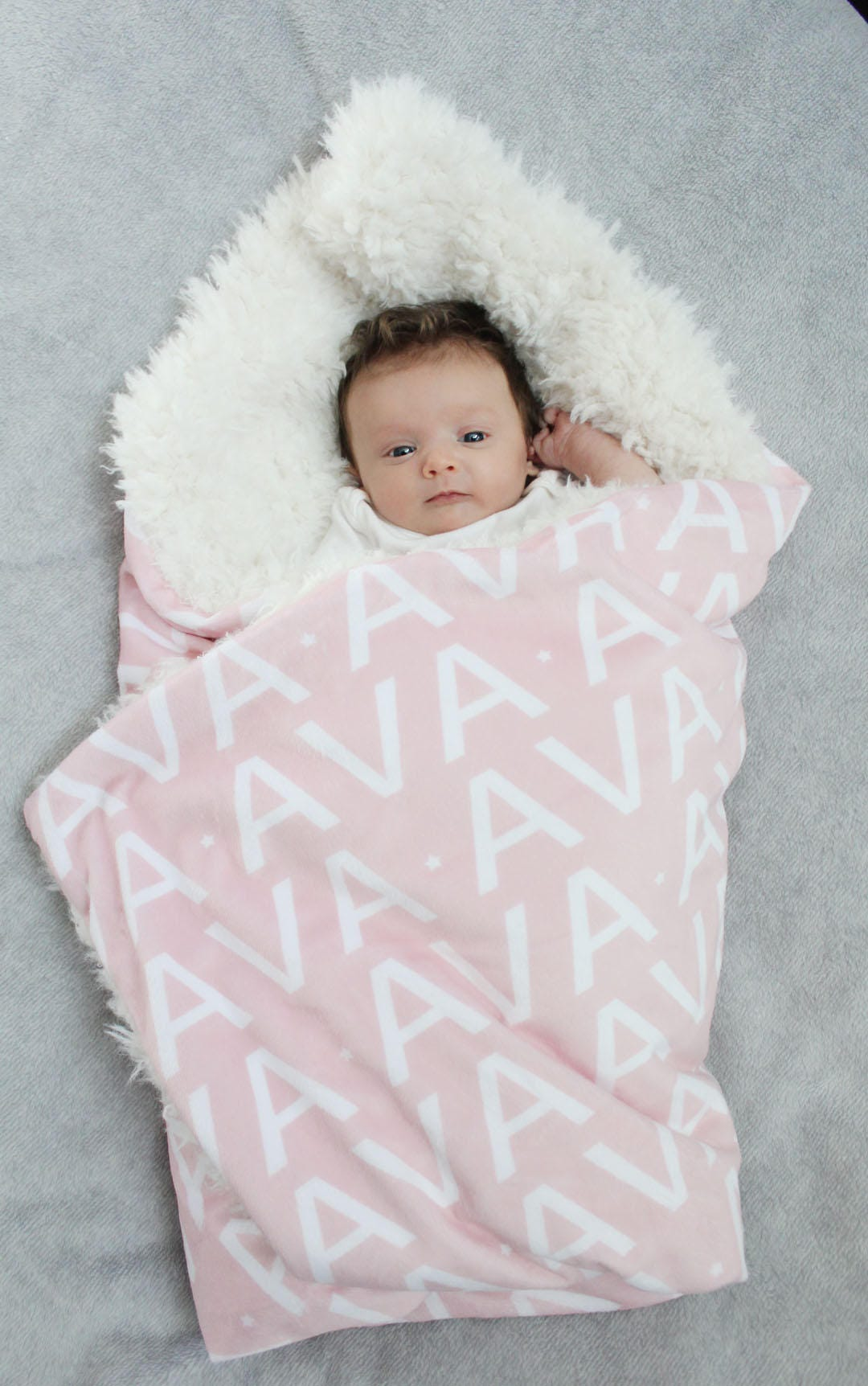 Personalized baby blanket faux fur minky lovey name blanket baby personalized baby blanket faux fur minky lovey name blanket baby gift cloud blanket llama grey newborn gift plush photo prop toddler child negle