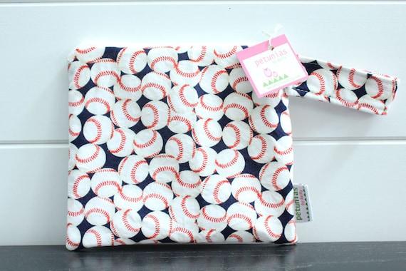 bd906fd90b wetbag wet bag The ICKY Bag petite baseball navy red modern