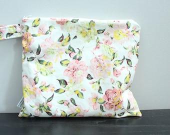 Wet Bag wetbag Diaper Bag ICKY Bag wet proof ivory floral gym bag swim cloth diaper accessories zipper gift newborn baby kids beach bag