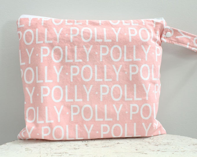 The ICKY Bag - wetbag - PETUNIAS by Kelly - personalized