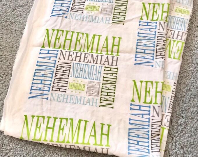 NEHEMIAH baby blanket EXTRA discounted item PETUNIAS by Kelly