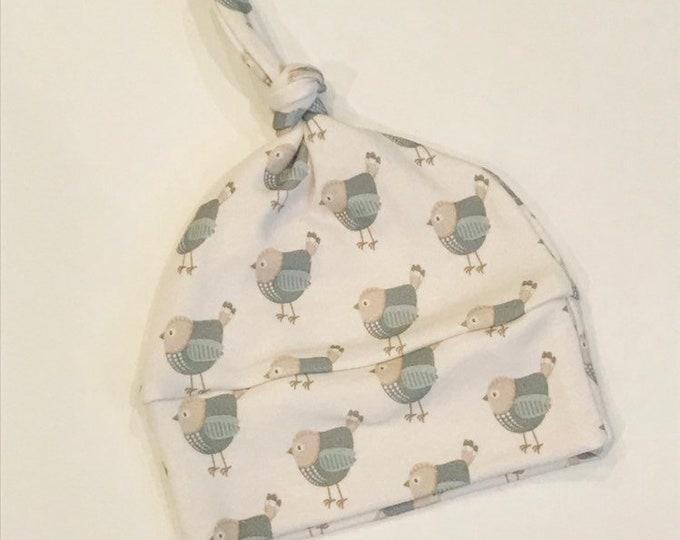baby hat grey bird Organic knot modern newborn shower gift photography prop hospital outfit accessory neutral girl boy