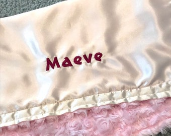 Maeve little fluffy blanket EXTRA discounted item PETUNIAS by Kelly