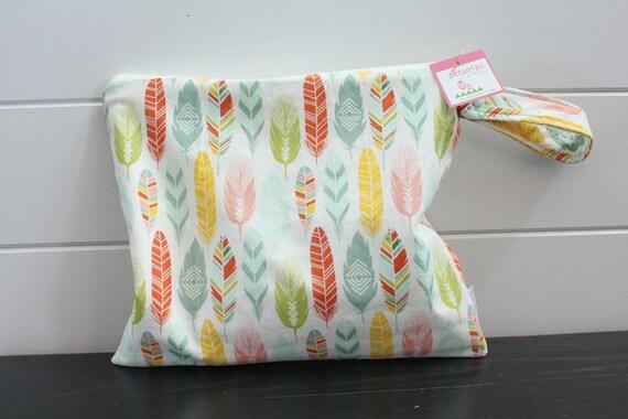 Mouiller le sac wetbag sac à couches sac DÉGUEU humide preuve plume pastel gym natation tissu sac à couches accessoires fermeture éclair cadeau nouveau-né enfants plage