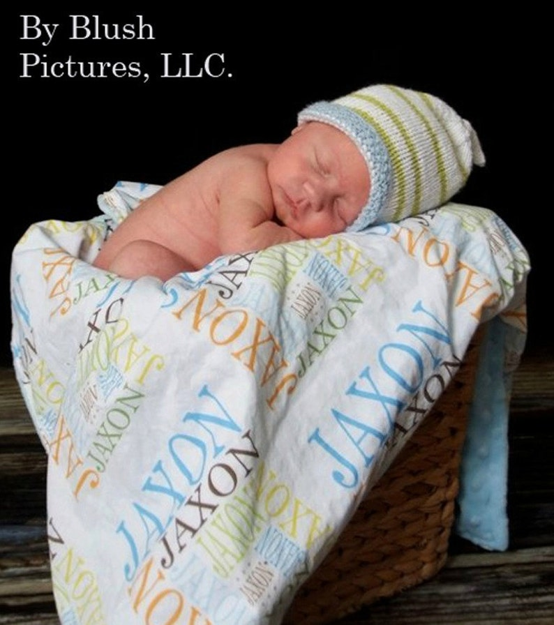 Personalized Name Minky baby Blanket  by PETUNIAS stroller newborn gift shower present photo prop custom many colors unique original on etsy