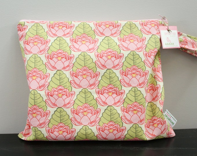 The ICKY Bag - wetbag - PETUNIAS by Kelly - water lily