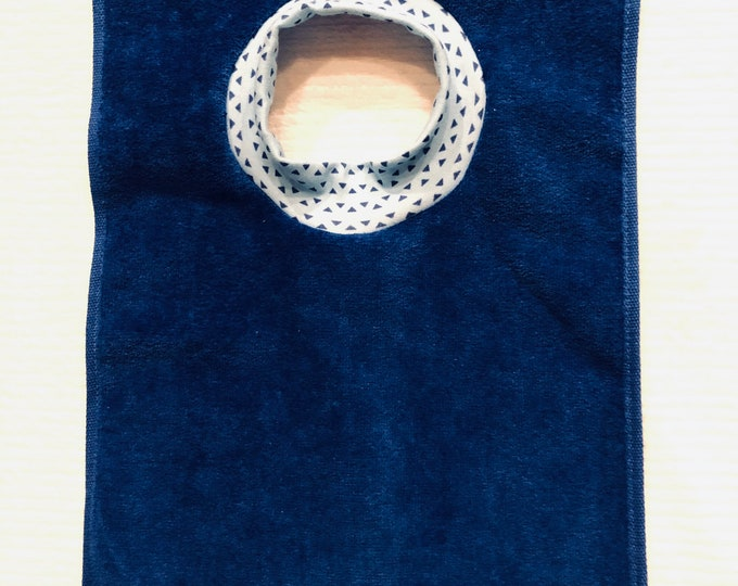 Towel Bib by PETUNIAS - absorbent washable dryable organic knit baby toddler gift
