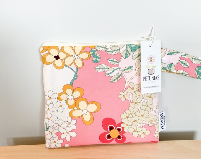 The ICKY Bag petite - wetbag - PETUNIAS by Kelly - pretty floral