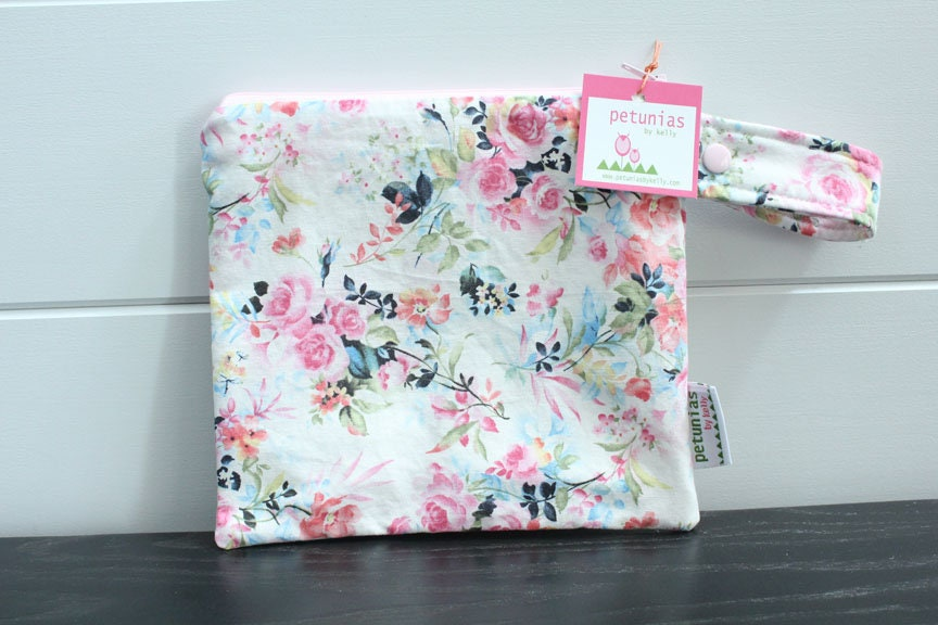 b76b4604cc wetbag wet bag ICKY Bag petite modern farmhouse floral baby gift waterproof  gym sports cloth diaper pouch zipper snap handle baby gift gear. gallery  photo ...