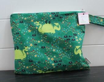 Wet Bag wetbag Diaper Bag ICKY Bag wet proof green dragon gym bag swim cloth diaper accessories zipper gift newborn baby kids beach bag