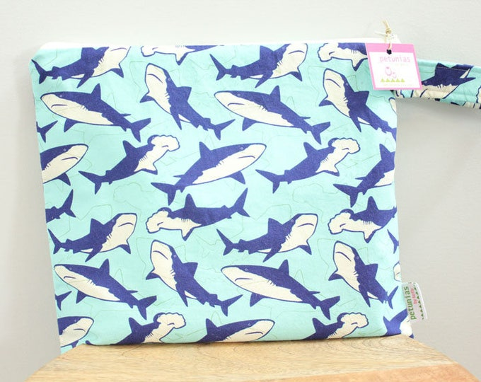 Wet Bag wetbag Diaper Bag ICKY Bag wet proof shark blue gym bag swim cloth diaper accessories zipper gift newborn baby child kids summer