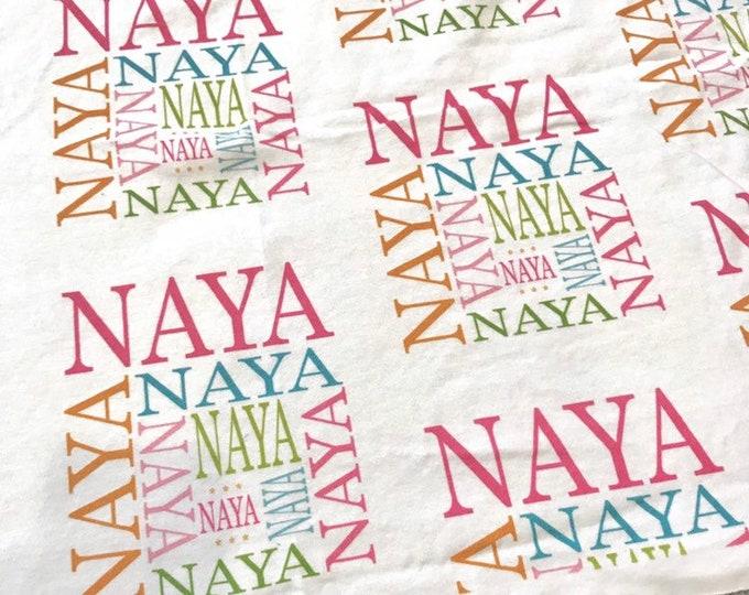 NAYA organic knit swaddle blanket EXTRA discounted item PETUNIAS by Kelly