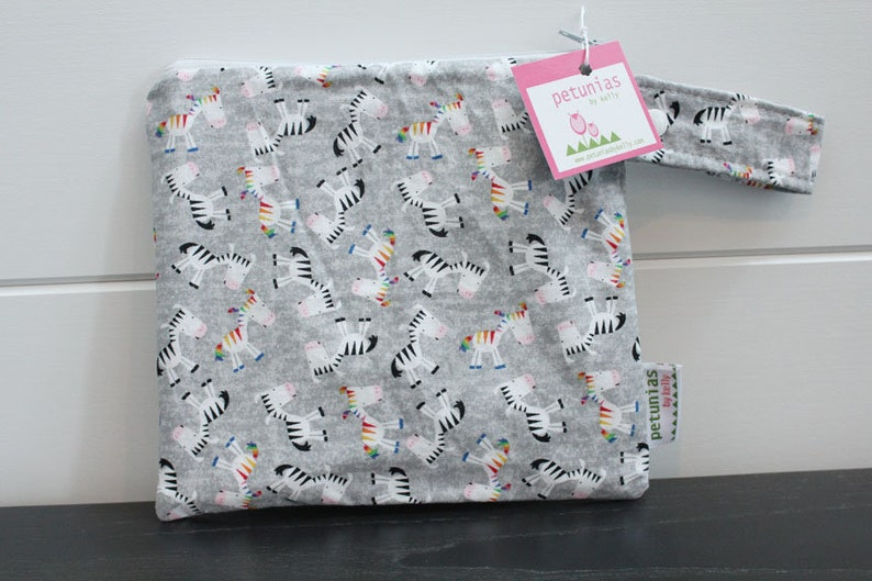 5948b895eb Wetbag wet bag The ICKY Bag petite grey zebra modern baby gift