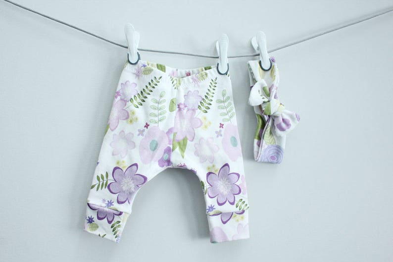 Baby leggings grey stripe 0-3 months Organic PETUNIAS modern newborn baby shower gift photo prop hospital outfit accessory