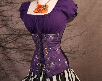 Waist 46-48 Purple Nightmare Before Christmas Torian Corset