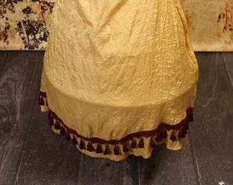 Gold Swagger Skirt with Tassel Trim