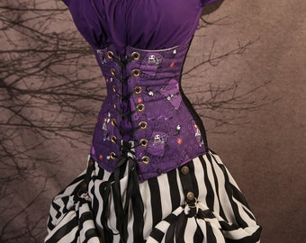 Waist 23-25 Purple Nightmare Before Christmas Torian Corset