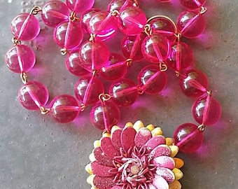A Juicy Fruit colored Flower  Necklace  from Wendy Baker
