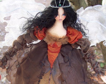 Digital Cloth Doll Pattern PDF Download Victorian Style Pincushion Pincushion Pattern Doll Making Tutorial Fairy Godmother Paula McGee