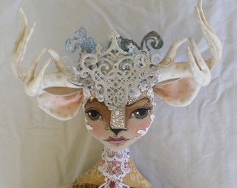 Sewing Patterns Cloth Doll Deer Doll Pattern PDF Instant Download Sewing Pattern Doll Making Deer Doll Tutorial Fairy Godmother Paula McGee
