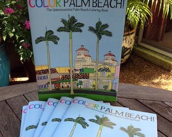 Color Palm Beach! Adult coloring book, children's travel souvenir, creative & educational family activity