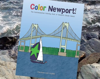 Color Newport! travel coloring book for adults & children