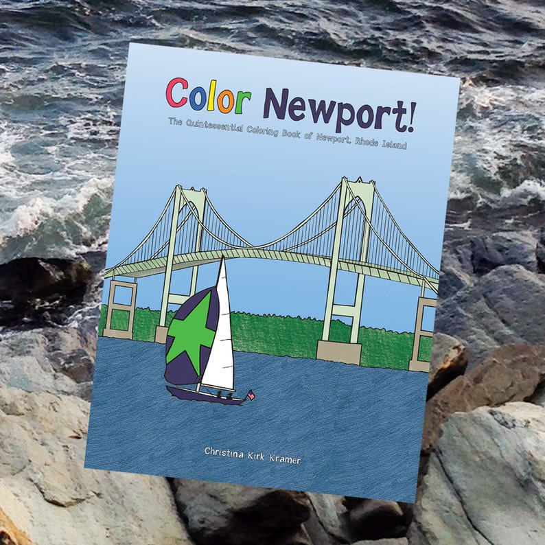 Color Newport travel coloring book for adults & children image 0