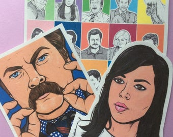 Parks and Recreation Sticker Pack