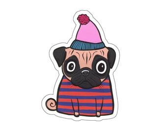 431bfe47a6a28 Pug Vinyl Sticker