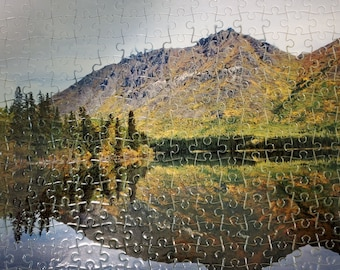 Puzzle Yukon, Annie Lake, Reflection, gift under 35, 266 pieces, Matechuk, Canada,