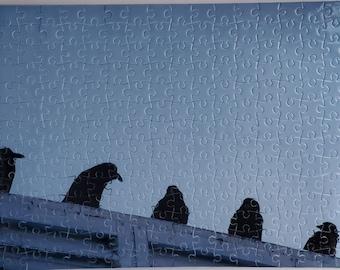 Puzzle Unkindness of Ravens, Yukon bird,  free shipping Canada, Judy Matechuk,