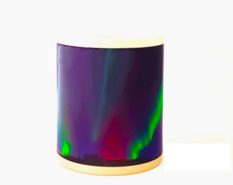 Northern lights color morphing mug heat activated