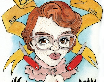 RIP Barb: 8 1/2 x 11 Print of Barb from Stranger Things