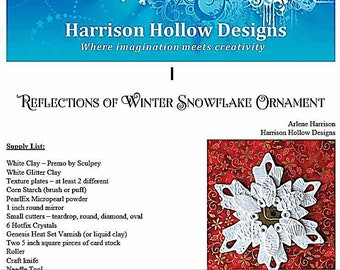 Reflections of Winter Snowflake Ornament Tutorial PCT20201