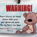 Heart Warrior - More Than I Can Bear Do Not Touch the Baby Sign for Babies with Heart Defects CHD