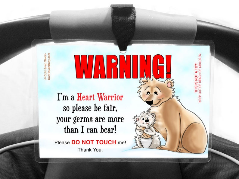 CHD Awareness Heart Warrior Please Don't Touch Me Sign for image 0