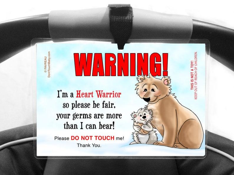 CHD Baby Do Not Touch Germ Pram Sign