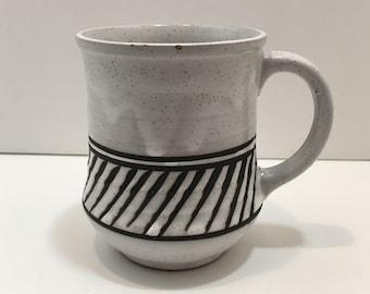 Handpainted Etched JAPAN Stoneware Mug