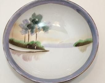 Meito China Nippon Handpainted Art Deco Bowl
