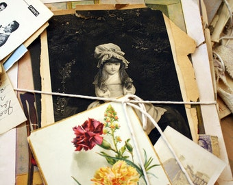 Vintage Paper Pack - Ephemera lot - Collage Artists Dream