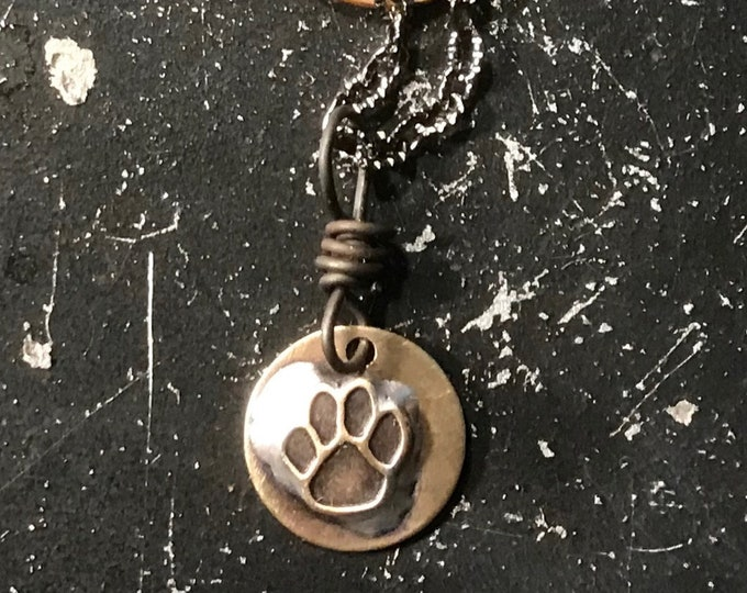 Animal Paw Charm, Brass Soldered Tag,  Brass Dog/Cat Paw For DIY Jewelry Making, Bracelet Charm, Animal Paw Charm  for Necklace or Keychain