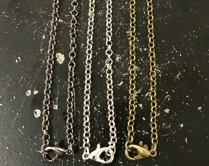 30 Inch Necklace Chain, Rolo Chain, Necklace For Charms, Lead and Nickel Free Chain For DIY Necklace Making, Charm Necklace,