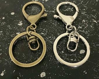 Bronze Keychain, Silver Key Chain, Clip For Keys, Clip For Charms, Bronze Key Chain, Key Chain For Charms,