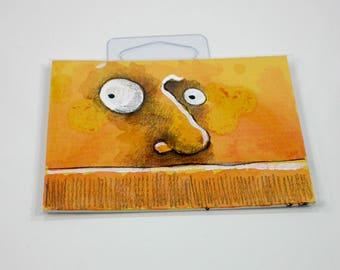 Orange monster original art